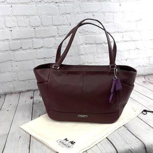 NWOT COACH PARK CARRIE Leather Purse Fig Brown